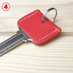 LEATHER_KEY_COVERレッド3