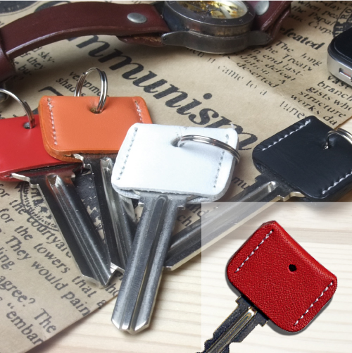 LEATHER KEY COVER レッド